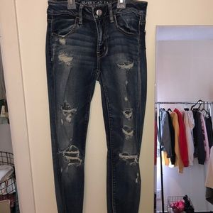 ripped jegging crop